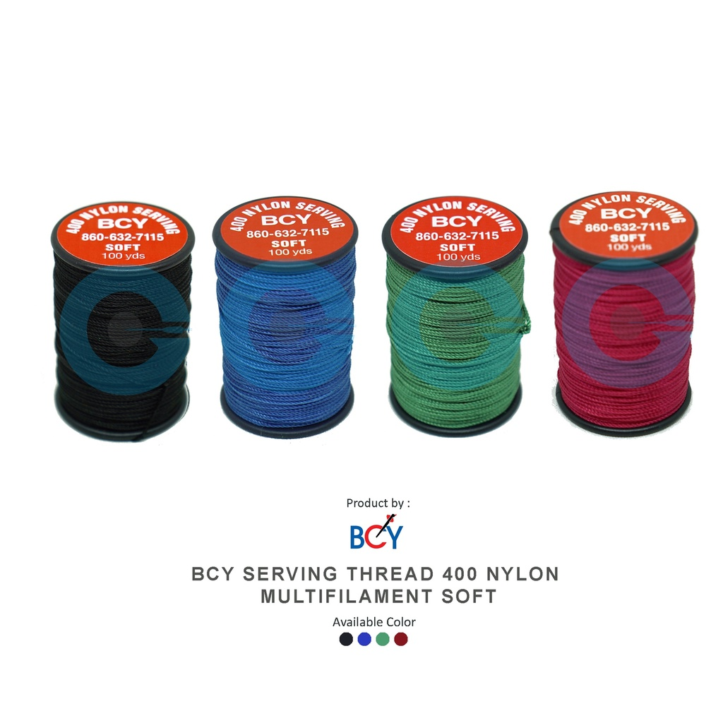 BCY SERVING THREAD 400 NYLON MULTIFILAMENT SOFT