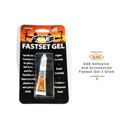 AAE ADHESIVE AND ACCESSORIES FASTSET GEL 3 GRAM