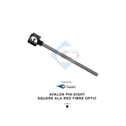 AVALON PIN-SIGHT SQUARE ALU RED FIBER OPTIC
